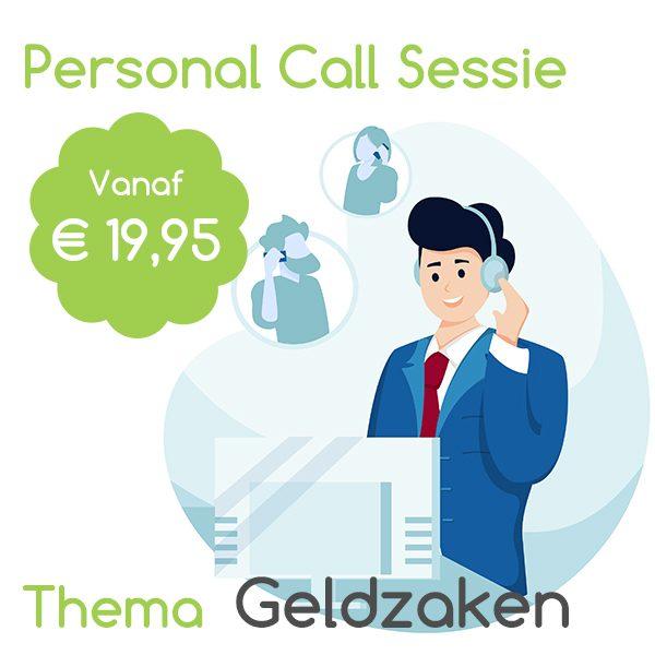 Pakket Personal call sessie Thema Geldzaken wijleggenuit juni 2021